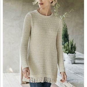 J. Jill Fringed Tunic Sweater